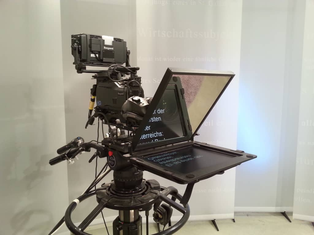 Teleprompter inkl. Notebook und Software